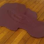 """""""À la jonction des humeurs"""", 2007 Bois façonné main, peinture 125 x 76 x 2 cm"""