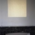 """""""C'est à partir d'ici que l'on retrouve sa trace"""", 1993 Projection d'un carré de papier millimétré percé de trous d'épingle"""