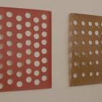 """""""Faits et gestes"""", (série) oct.2000 et juillet 2001 Découpes au cutter à main levée sur papier Chaque élément, 21 x 29 7 cm"""