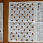 """""""Faits et gestes"""", 1998 Interventions au cutter et à main levée sur la totalité du journal """"Le monde"""", du 23 septembre 1998 (36 pages) 47 x 32 cm"""