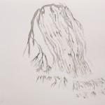 """""""Si peu de zones étanches"""", 2013 (série) encre de chine sur papier, 21 x 29,7 cm"""