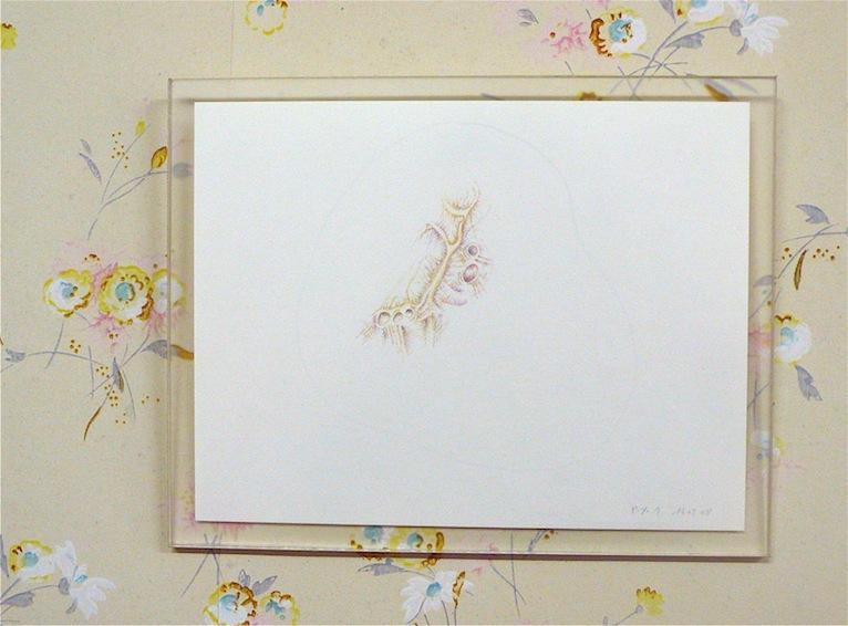 Dessin du 16/02/08. Crayon de couleur sur papier. 19,2 x 14,8 cm.