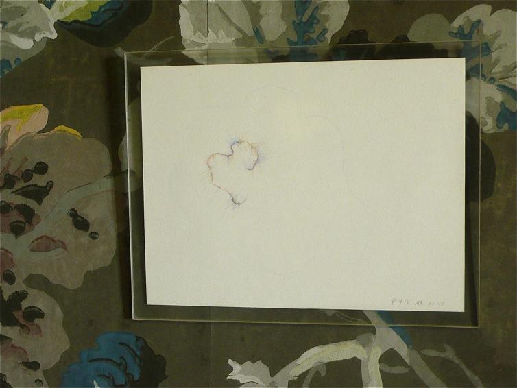 Détail d'un dessin exécuté le 11/12/2009. Crayon de couleur sur papier. 19,2 x 14,8 cm.