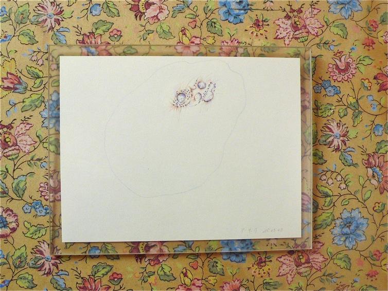 Dessin du 18/09/09. Crayon de couleur sur papier. 19,2 x 14,8 cm.